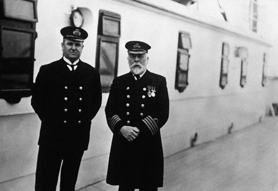 Purser McElroy and Captain Smith on the <Titanic> | Autor: Ralph White