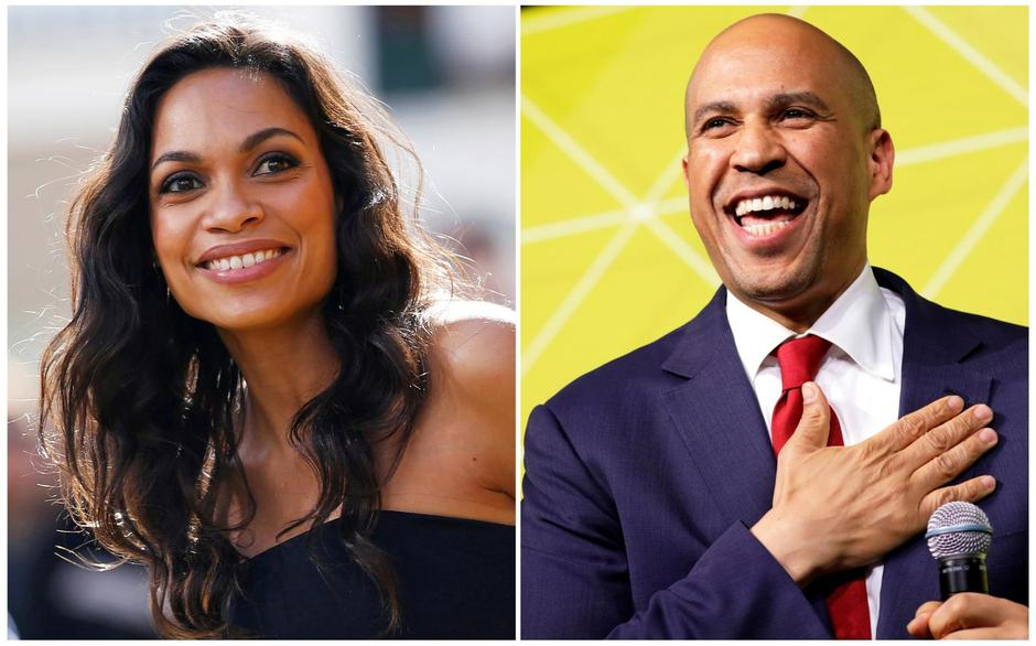Actor Rosario Dawson and Democratic 2020 U.S. presidential candidate and U.S. Senator Cory Booker (D-NJ) are pictured in combination photograph | Autor: STAFF/REUTERS/PIXSELL/REUTERS/PIXSELL