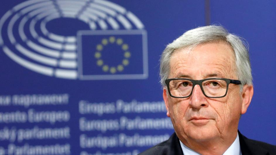 European Commission President Jean-Claude Juncker  attends a news conference after the presentation a White Paper on the Future of Europe in Brussels