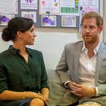 Britain's Prince Harry and Meghan, Duchess of Sussex vist Survivors' Network in Brighton