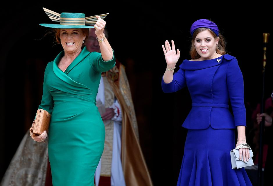 Princess Beatrice and Sarah Ferguson arrive at Windsor Castle for the royal wedding of Britain's Princess Eugenie and Jack Brooksbank in Windsor | Autor: Toby Melville/REUTERS/PIXSELL/REUTERS/PIXSELL