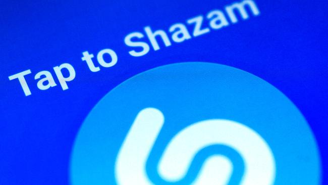 Illustration photo of the Shazam application on a mobile phone
