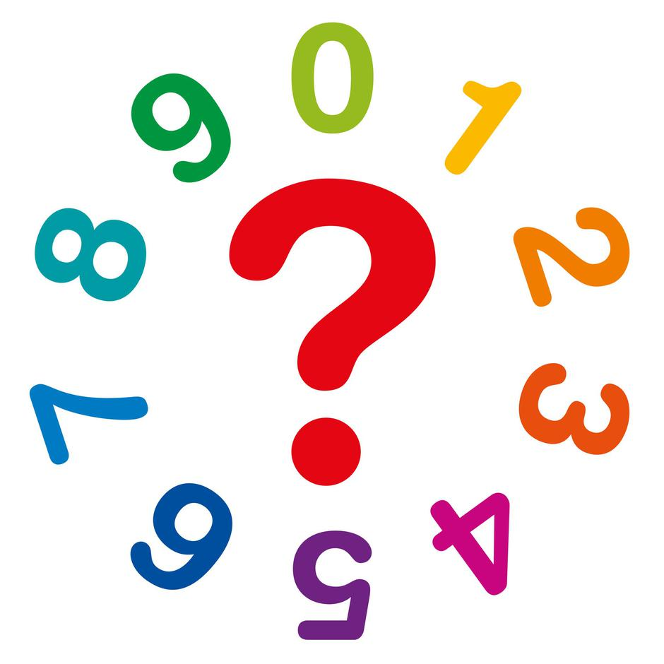 Numerology numbers and question mark | Autor: Dreamstime