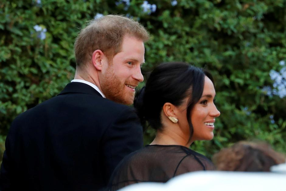 The Duke and Duchess of Sussex, Prince Harry and his wife Meghan, arrive to attend the wedding of fashion designer Misha Nonoo at Villa Aurelia in Rome | Autor: REMO CASILLI/REUTERS/PIXSELL/REUTERS/PIXSELL
