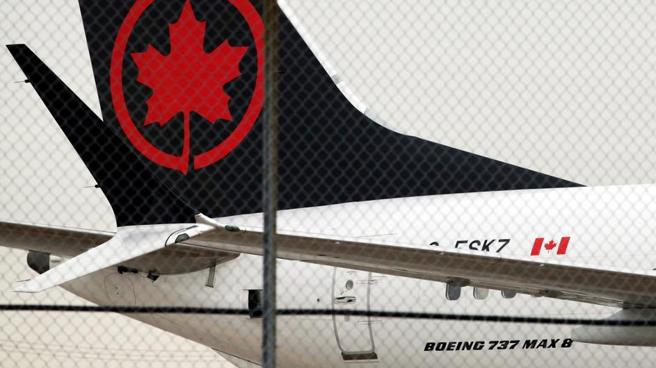 FILE PHOTO: An Air Canada Boeing 737 MAX 8 aircraft on the ground at Toronto Pearson International Airport