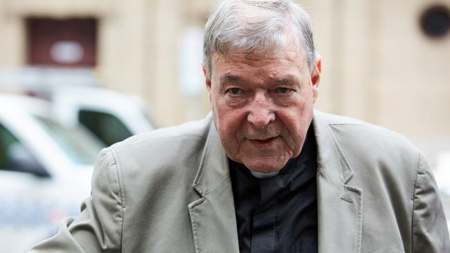 Cardinal George Pell arrives at the County Court in Melbourne, Australia