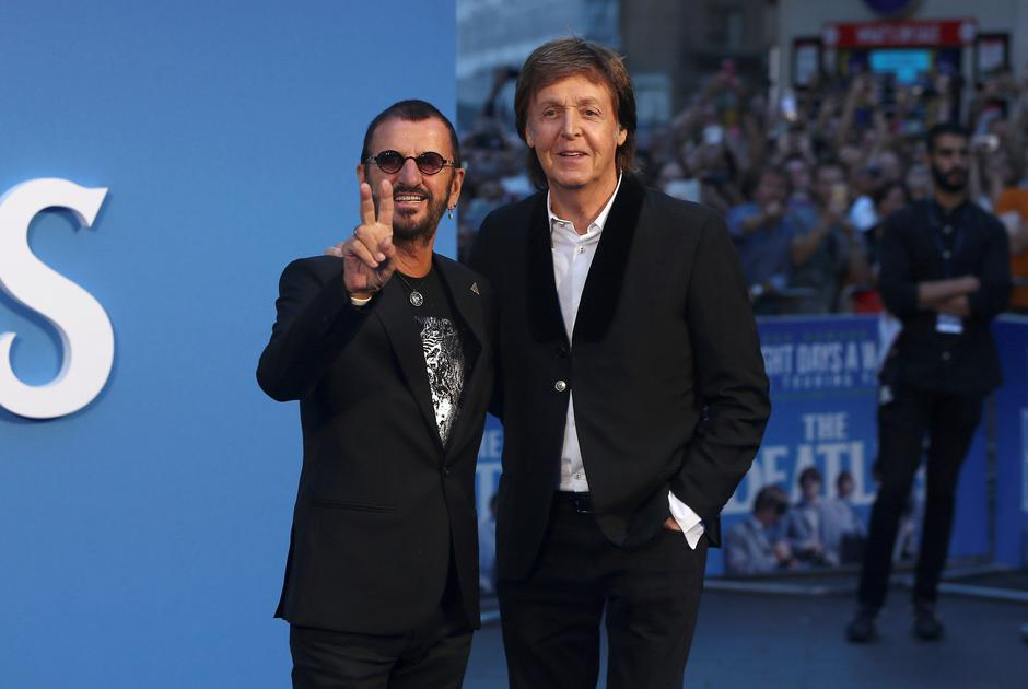 FILE PHOTO: Former Beatles Ringo Starr and Paul McCartney attend the world premiere of The Beatles: 'Eight Days a Week - The Touring Years' in London | Autor: NEIL HALL/REUTERS/PIXSELL/REUTERS/PIXSELL