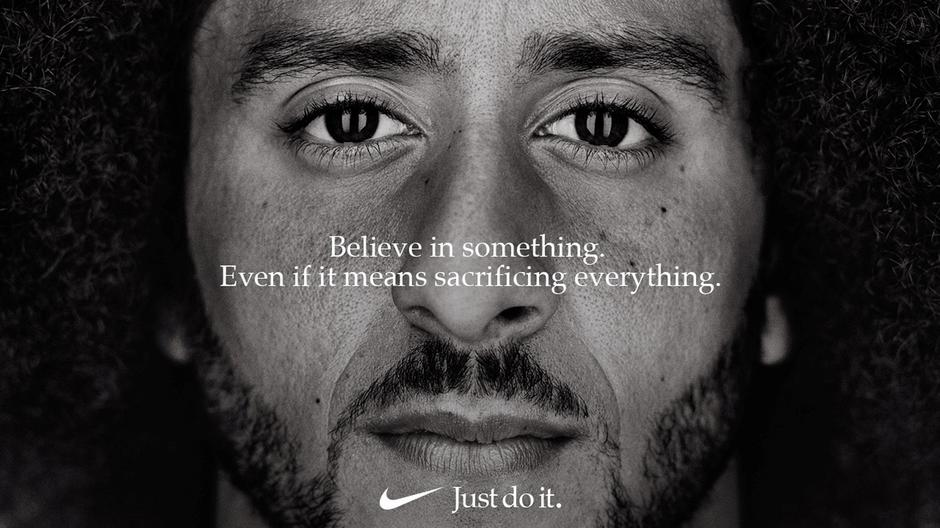 "Colin Kaepernick appears as a face of Nike Inc advertisement marking the 30th anniversary of its ""Just Do It"" slogan 