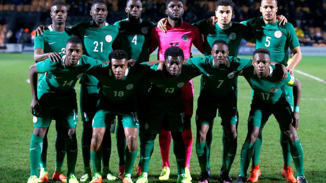 FILE PHOTO: Nigeria team group before the match