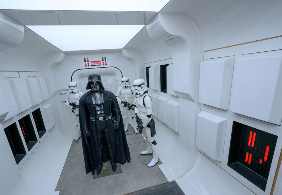 "Star Wars show ""Outpost One"" before the opening 