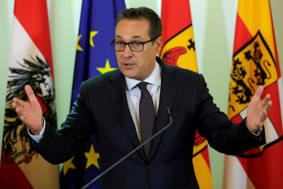 Austria's Vice Chancellor Strache addresses a news conference in Vienna | Autor: HEINZ-PETER BADER/REUTERS/PIXSELL/REUTERS/PIXSELL
