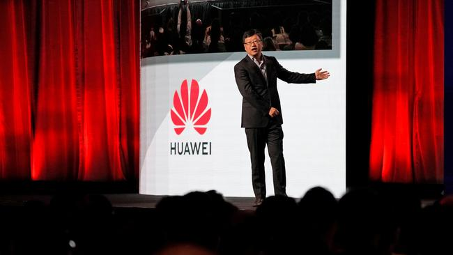 Shao Yang, chief strategy officer of Huawei Consumer Business Group, speaks during the CES Asia 2019 in Shanghai