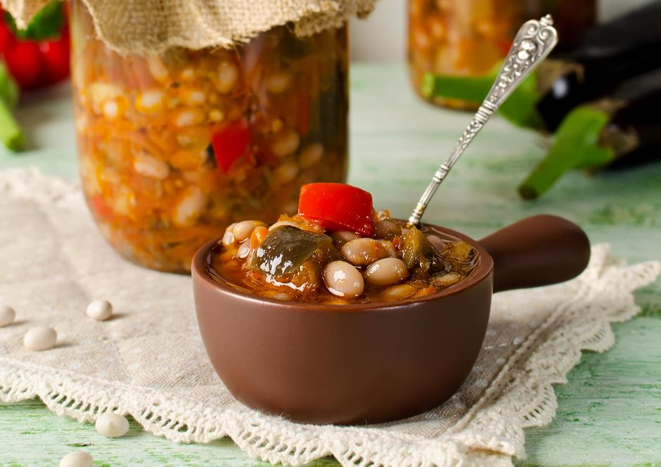 Beans with eggplant | Autor: Photos by Elena Grigarchuk