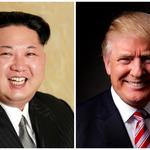 FILE PHOTO - A combination photo of Kim Jong Un and Donald Trump