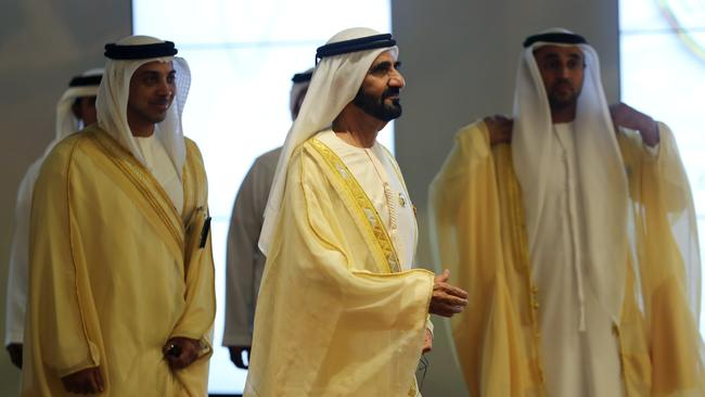 Prime Minister and Vice-President of the United Arab Emirates and ruler of Dubai Sheikh Mohammed bin Rashid al-Maktoum is pictured ahead of the 29th Arab Summit in Dhahran, Saudi Arabia