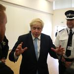 Britain's PM Boris Johnson visits West Yorkshire