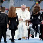 Pope Francis attends the Festival of Families at Croke Park during his visit to Dublin