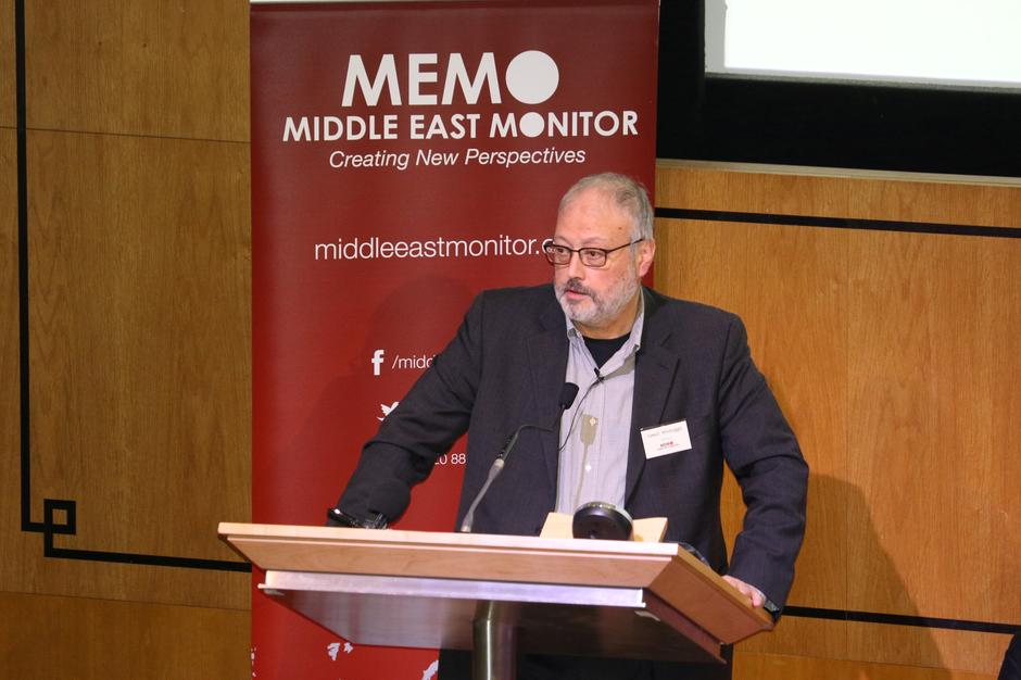 FILE PHOTO: Saudi dissident Jamal Khashoggi speaks at an event hosted by Middle East Monitor in London | Autor: HANDOUT ./REUTERS/PIXSELL/REUTERS/PIXSELL