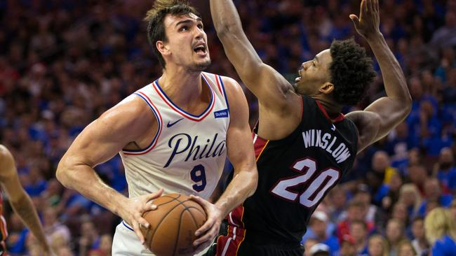 NBA: Playoffs-Miami Heat at Philadelphia 76ers