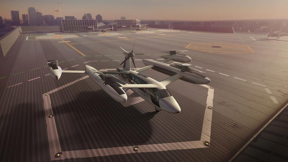Handout photo of an artist's rendering of the Uber flying taxi concept | Autor: HANDOUT