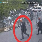 A still image taken from CCTV video and obtained by TRT World claims to show Saudi journalist Jamal Khashoggi, highlighted in a red circle by the source, as he arrives at Saudi Arabia's Consulate in Istanbul