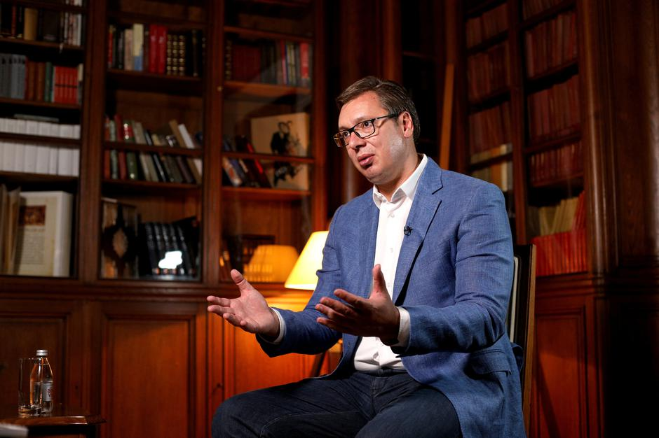 Serbian President Aleksandar Vucic speaks during an interview with Reuters in Belgrade, Serbia | Autor: DJORDJE KOJADINOVIC/REUTERS/PIXSELL/REUTERS/PIXSELL