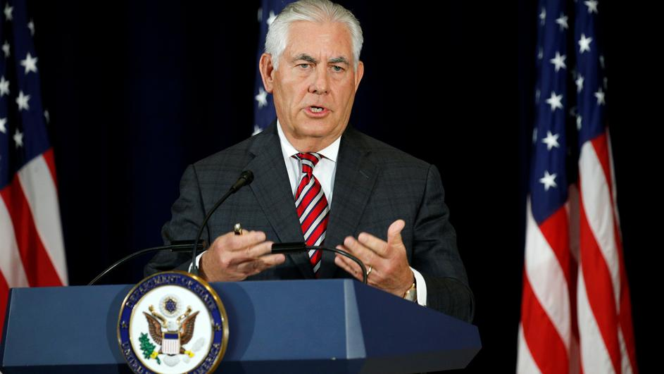 Tillerson holds a press conference in Washington
