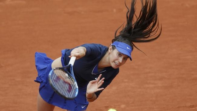 Tennis - French Open - Roland Garros -  Oceane Dodin of France vs Ana Ivanovic of Serbia