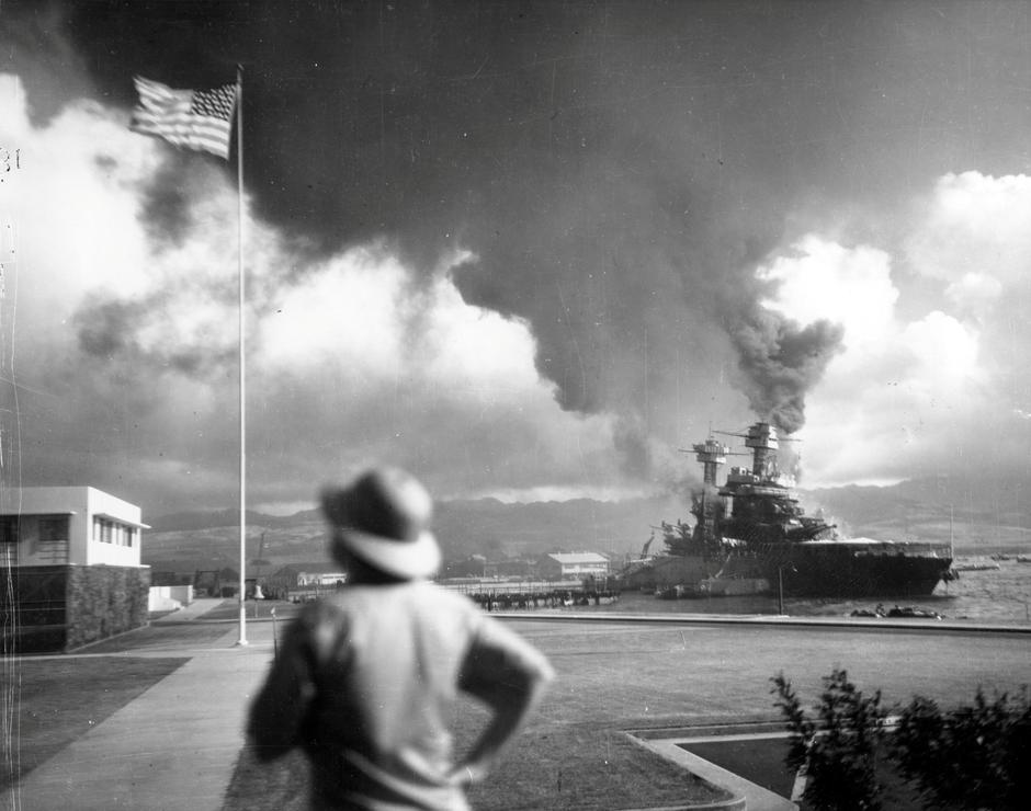 Archive photo of the damaged battleship USS California at Pearl Harbor | Autor: HANDOUT