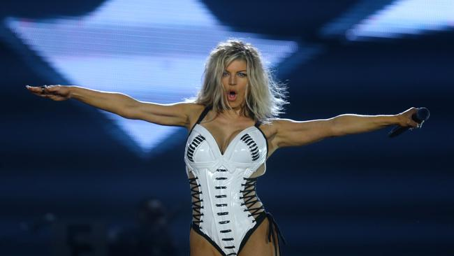 Singer Fergie performs during the Rock in Rio Music Festival in Rio de Janeiro