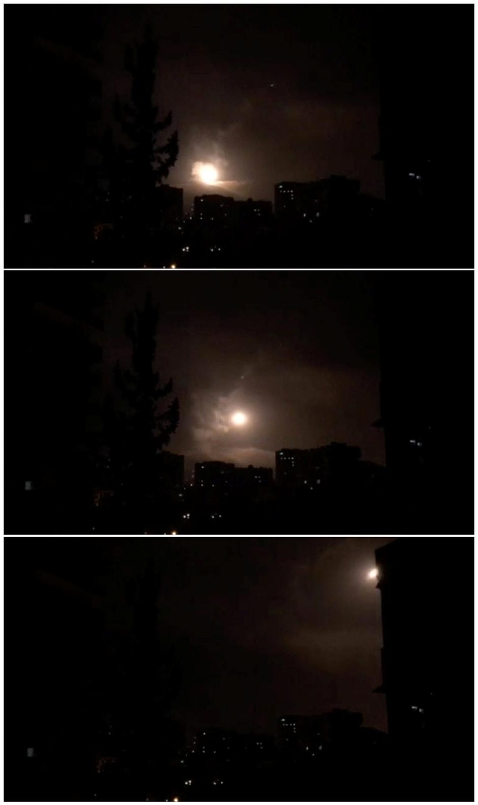 Combination photo of still images show Syria air defences striking back after air strikes by U.S., British and French forces in Damascus | Autor: REUTERS TV/REUTERS/PIXSELL/REUTERS/PIXSELL