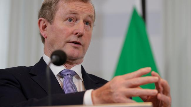 Ireland's Enda Kenny speaks during a news conference in the Hague