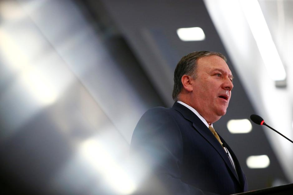Central Intelligence Agency Director Mike Pompeo speaks at The Center for Strategic and International Studies in Washington | Autor: ERIC THAYER