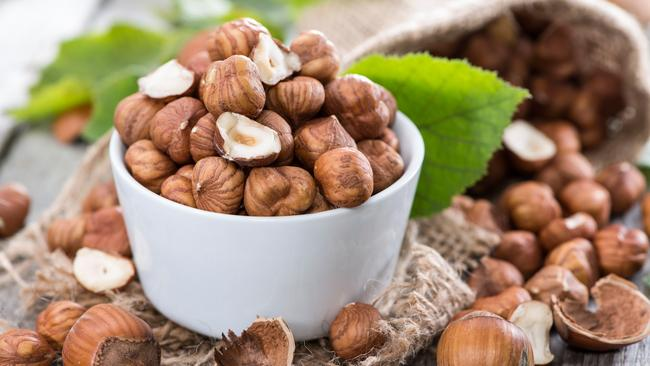 Heap of Hazelnuts