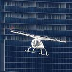 A Volocopter air taxi performs a demonstration in Singapore