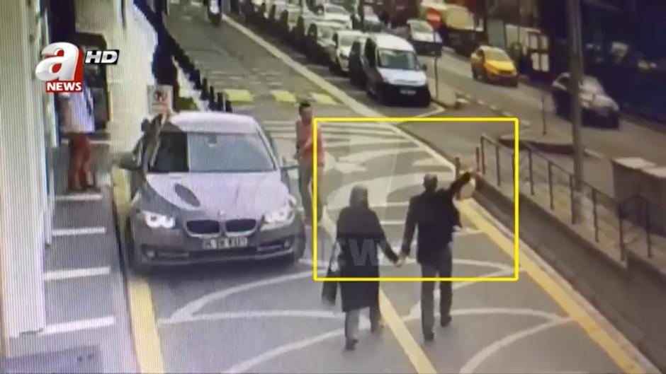 Still image taken from CCTV video supports to show Khashoggi and his fiancee going to Saudi consulate | Autor: Handout/REUTERS/PIXSELL/REUTERS/PIXSELL