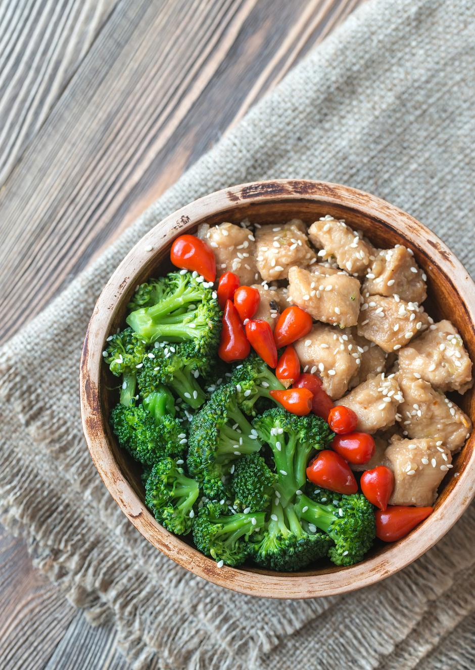 Bowl of broccoli and chicken stir-fry | Autor: Oleksandr Prokopenko