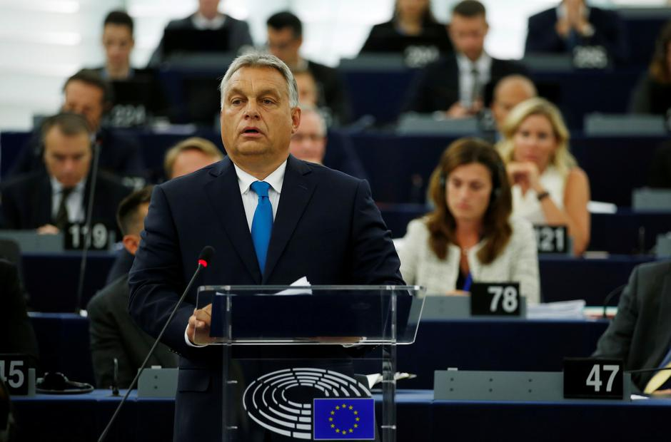 Hungarian Prime Minister Orban delivers a speech during a debate on the situation in Hungary at the European Parliament in Strasbourg | Autor: VINCENT KESSLER/REUTERS/PIXSELL/REUTERS/PIXSELL